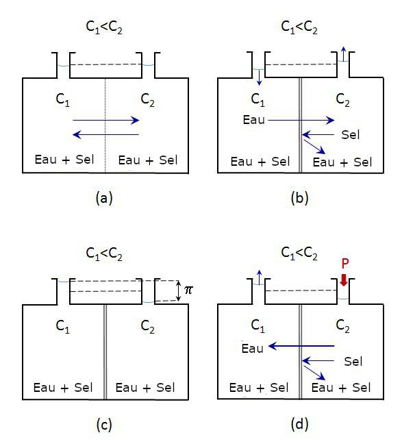 diagramme d'osmose inverse