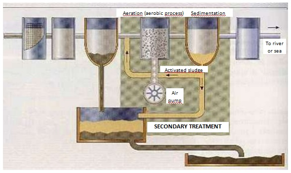 Aerobic treatment stages