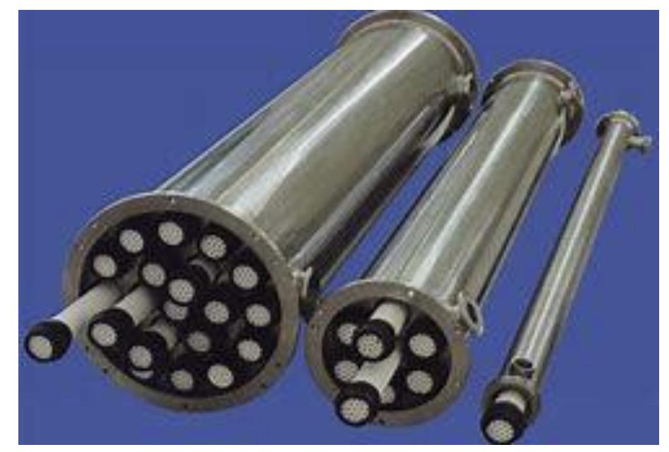 Cárteres para membranas cerámicas
