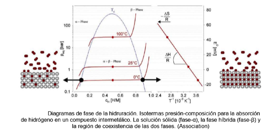 Pressure-composition isotherms for hydride formation