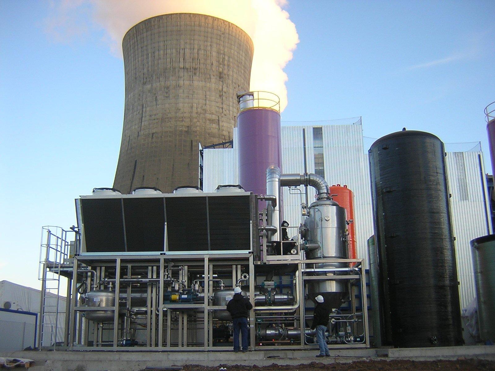 evaporador desulfuracion central termica condorchem