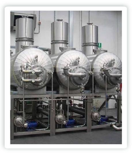 evaporador al vacío triple efecto